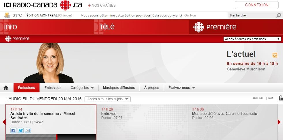 Capture radio Canada
