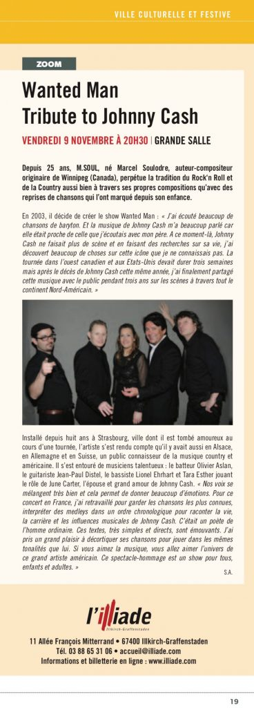 Article paru dans le journal de la ville d'Illkirch